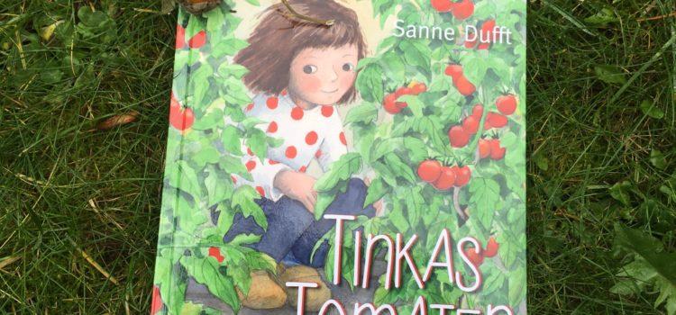 Buchcover: Ein Mädchen sitzt zwischen Tomatenplfanzen